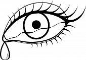 An Eye With A Tear