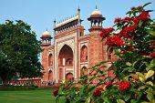 Taj Mahal Main Gate Entrance - Darwaza-i-rauza. New Wonder Of The World. Architecture Of India poster