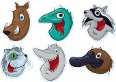 Smiling Face Fridge Magnet/Stickers  (Animals)