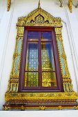 Thai art on window