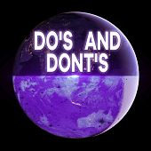Text Sign Showing Do S And Dont S. Conceptual Photo Rules Or Customs Concerning Some Activity Or Act poster
