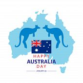 Australia Day. 26 January Happy Australia Day. Greeting Card. poster