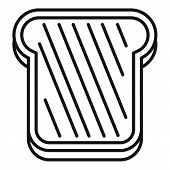 Bake Toast Icon. Outline Bake Toast Vector Icon For Web Design Isolated On White Background poster