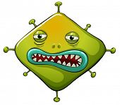 Illustration of an ugly virus