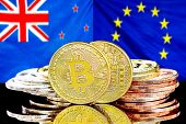 Concept For Investors In Cryptocurrency And Blockchain Technology In The New Zealand And European Un poster