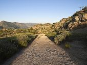 Rocky Peak Park mountain road between Los Angeles and Simi Valley California.