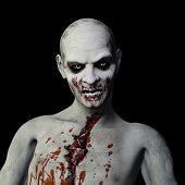 stock photo of undead  - Another Zombie: Undead Zombie glaring at you.