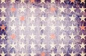 Patriotic Background - Stars on Blue