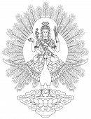 Mahamayuri Buddhist Deity