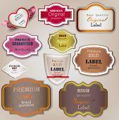 Conjunto de qualidade Superior e satisfação garantia emblemas, etiquetas, Tags. Estilo vintage retrô