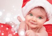 Santa Christmas Baby with Magic Sparkles