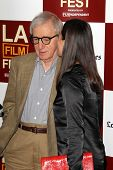 LOS ANGELES - JUN 14:  Woody Allen, Soon-Yi Previn arrives at the