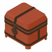 Closed Dower Chest Icon. Isometric Of Closed Dower Chest Vector Icon For Web Design Isolated On Whit poster