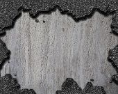 damaged asphalt hole background