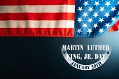 Martin Luther King Day Anniversary - American Flag Abstract Background poster
