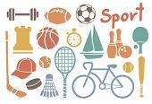 Постер, плакат: набор иконок красочные спорта