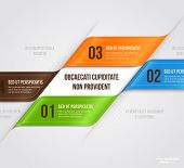 Modern infographic template for business design with ribbons. Can be used for banners, cards, paper