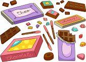 Illustration of Chocolates Design Elements