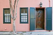 Charleston Pink House Doorway