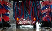 image of car wash  - photographed a drive through car wash in florida - JPG
