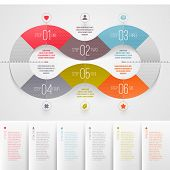 stock photo of circle shaped  - Infographics design template  - JPG