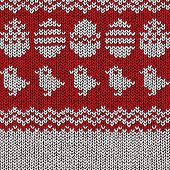 Easter Sweater Pattern, vector eps10 illustration