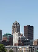 Skyline of Des Moines Iowa