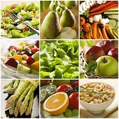 pic of healthy food  - healthy vegetables and fruit food  - JPG