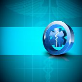 image of serpent  - Abstract medical background with caduceus medical symbol - JPG