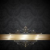 Royal template with ornate background and golden swirls  - raster version