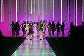 ZAGREB, CROATIA - MARCH 15: Fashion models on catwalk wearing clothes designed by Martina Felja on t