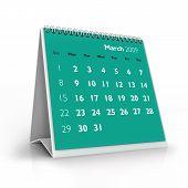 Calendário de 2009. Março