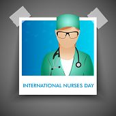 picture of florence nightingale  - International nurse day concept with illustration of a nurse - JPG