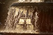 Winterly Fountain In Back Light
