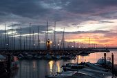 Desenzano Del Garda Marina With The Old Lighthouse