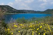 Lake Hodges in Escondido, California. Escondido is 35 miles North of San Diego.