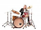 picture of drums  - musician playing drums - JPG
