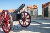 antique cannon in a fortress