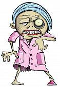 Cartoon illustration of green zombie