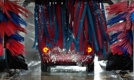 pic of car wash  - photographed a drive through car wash in florida - JPG