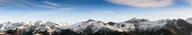stock photo of mountain-range  - panoramic view of the Alps at italian - JPG