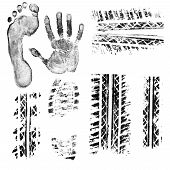 picture of soles  - Black ink foot - JPG