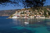 Traditional Fishing Village Of Assos At Kefalonia