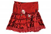 Red Children Girl Skirt Isolated
