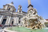 Fontana dei Quattro Fiumi, Piazza Navona in Rome
