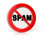 stock photo of antivirus  - Spam warning sign - JPG