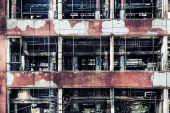 Old Ruinous Factory Closeup