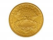 pic of twenty dollars  - Twenty dollars gold coin from nineteenth century named Liberty - JPG