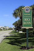 Welcome Sign Boca Raton, Fl