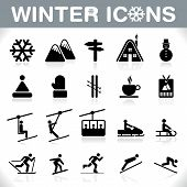 Winter Icons Set - Vektor